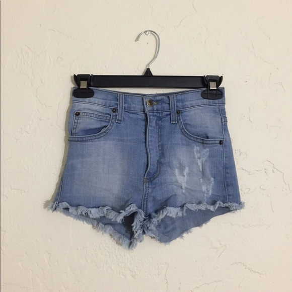 Goodtime Pants - Goodtime High Waisted Denim Shorts